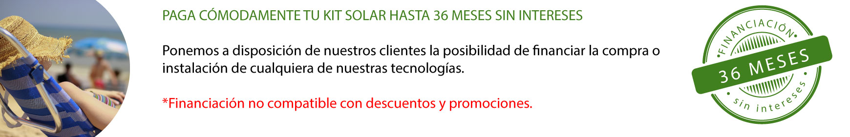 Financiacion kit solar