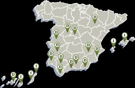 Mapa delegaciones Cambio Energético