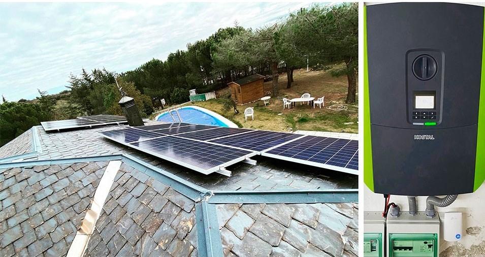 Instalación de Kit solar para vivienda aislada